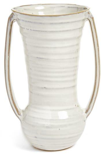 accent decor accent decor zara ceramic vase size one size white