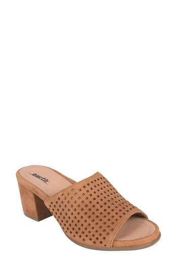 Earth Ibiza Perforated Sandal, Brown