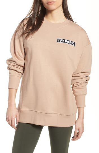 Ivy Park Flag Badge Sweatshirt, Beige
