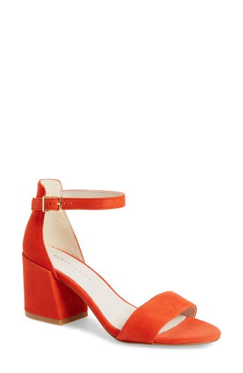 Kenneth Cole New York Hannon Block Heel Ankle Strap Sandal, Orange