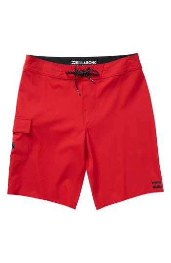 Boys Billabong All Day X Board Shorts Size 22  Red