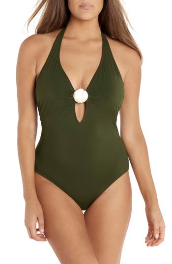 Amoressa Laura Mars Bianca One-Piece Swimsuit, Green