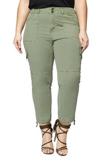 Plus Size Sanctuary Terrain Crop Cargo Pants, Green