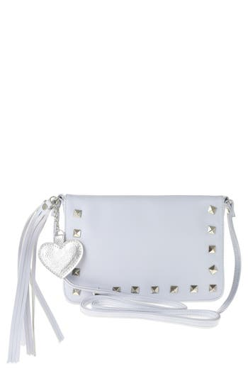 Girls Capelli New York Studded Faux Leather Crossbody Bag