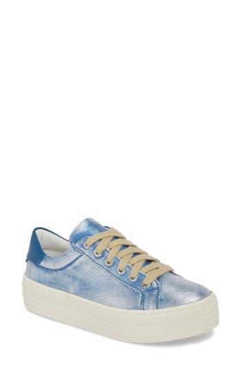 Jslides Heather Platform Sneaker, Blue