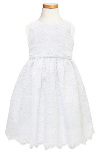 Girls C.i. Castro  Co. Scallop Lace Dress Size 8  White