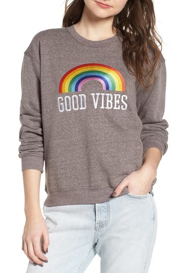 Sub_Urban Riot Good Vibes Rainbow Sweatshirt