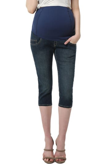 Kimi And Kai Courtney Capri Maternity Skinny Jeans, Blue