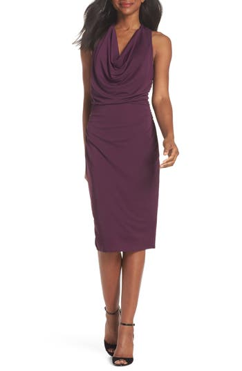 ELISE COWL NECK SLEEVELESS DRESS