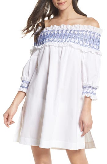 Ted Baker London Smocked Cover-Up Dress