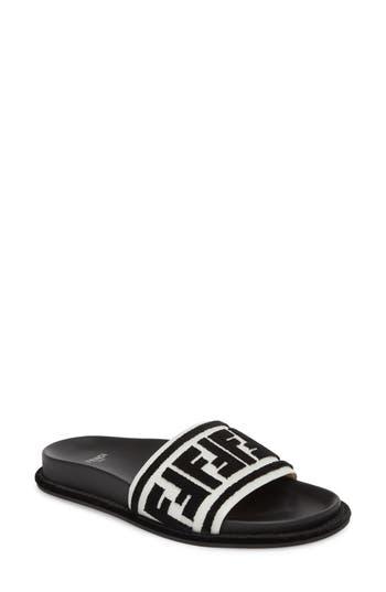 Fendi Fun Fendi Logo Slide Sandal