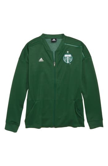 Boys Adidas Mls Portland Timbers Anthem Full Zip Jacket Size S  8  Green