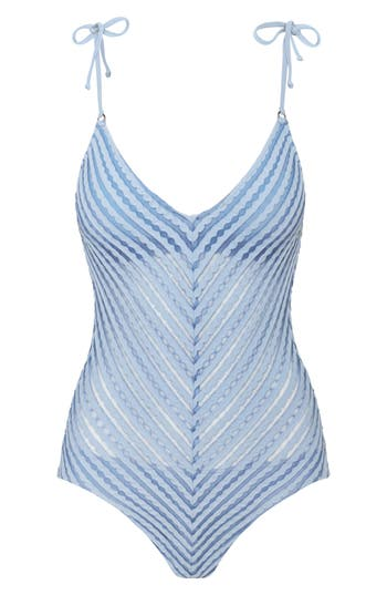 Robin Piccone Carly One-Piece Swimsuit, Blue