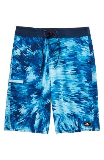 Boys ONeill Hyperfreak Crystalize Board Shorts Size 28  Blue