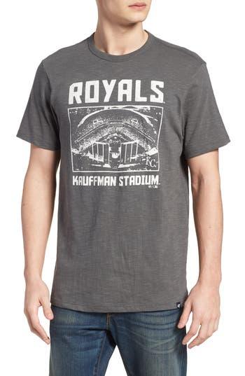 47 Mlb Overdrive Scrum Kansas City Royals T-Shirt, Grey
