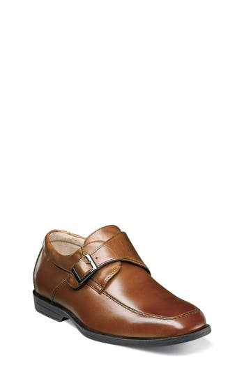 Boys Florsheim Reveal Monk Strap SlipOn Size 5.5 M  Metallic