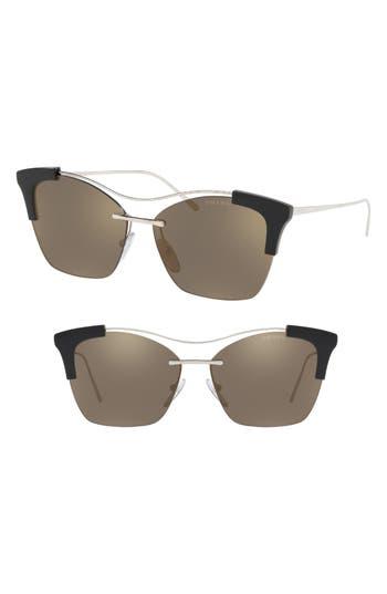 Prada Evolution 57mm Butterfly Sunglasses