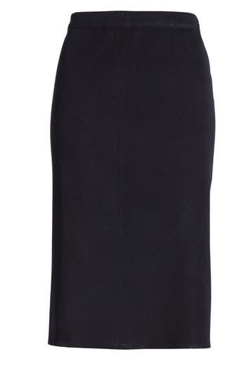 Ming Wang Straight Skirt, Blue