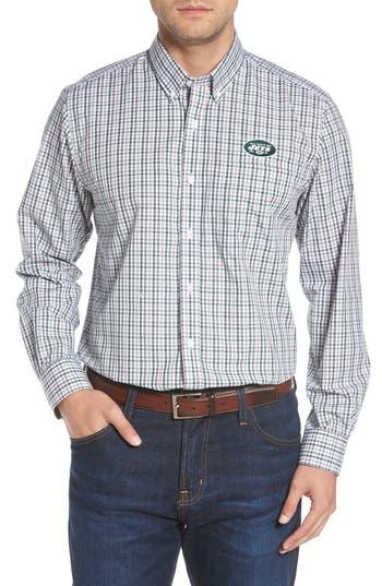 Cutter & Buck New York Jets - Gilman Regular Fit Plaid Sport Shirt