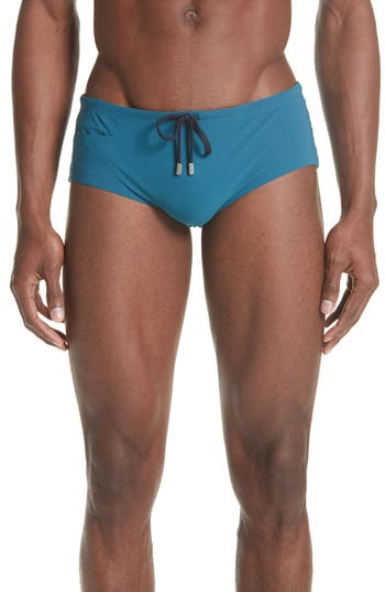 Vilebrequin Smoking Jersey Swim Briefs, Blue