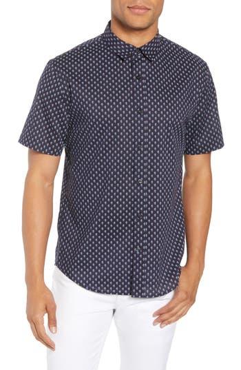 Men's Vince Classic Fit Print Short Sleeve Sport Shirt