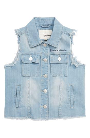 Girls Maddie Americana Frayed Denim Vest