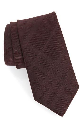 Burberry Manston Tonal Check Silk Skinny Tie