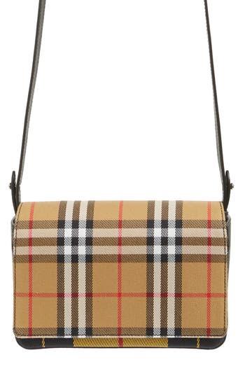Burberry Hampshire Tartan Mix Crossbody Bag