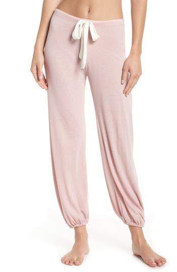 Women's Eberjey Crop Knit Lounge Pants, Size Small - Pink