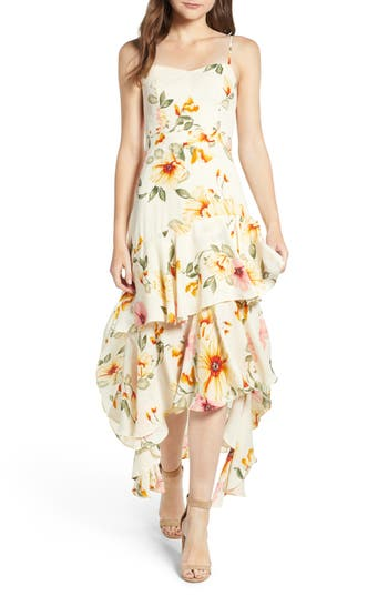 Women's Leith Floral High/low Dress, Size X-Small - Ivory