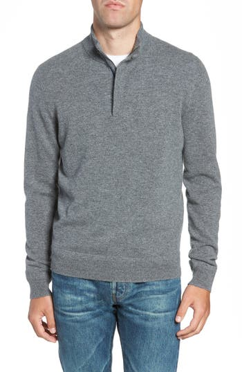 Nordstrom Men's Shop Regular Fit Quarter Zip Cashmere Sweater