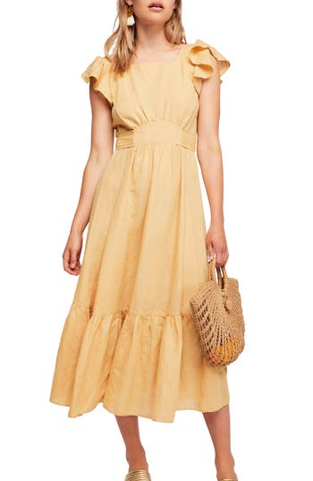 Endless Summer by Free People Takin' a Chance Midi Dress