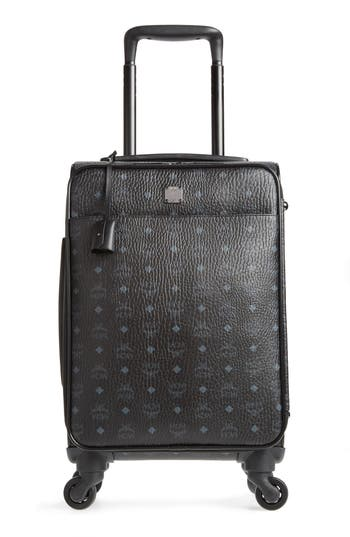 SMALL TRAVELER VISETOS 21-INCH TROLLEY WHEELED SUITCASE - BLACK