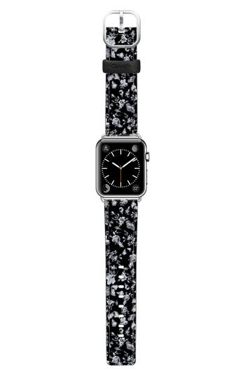 Casetify Vintage Flowers Saffiano Faux Leather Apple Watch Strap
