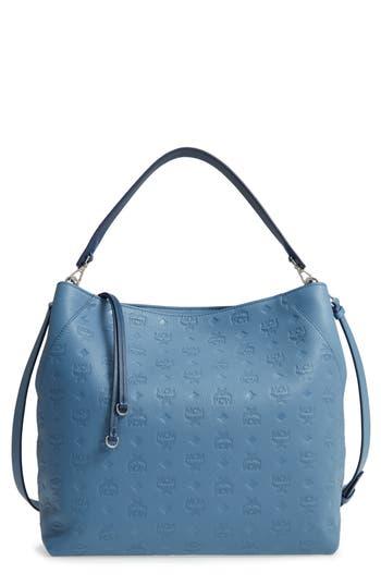 MCM Klara Monogrammed Leather Hobo Bag