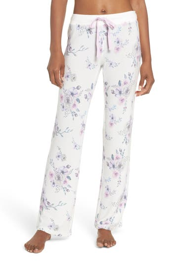 Women's Pj Salvage Floral Lounge Pants, Size X-Small - Ivory
