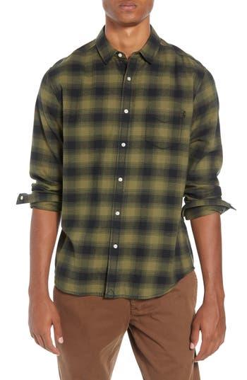 Men's Life/after/denim Lumberjack Plaid Slim Fit Sport Shirt, Size Small - Green