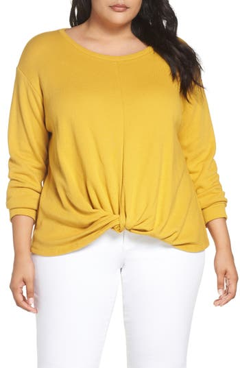 Caslon® Twist Front Sweatshirt