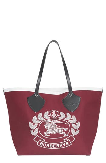 Burberry Large Giant Crest Reversible Canvas Tote