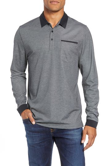Travis Mathew Kay Regular Fit Long Sleeve Polo Shirt