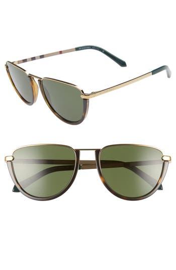 Burberry Trench 54mm Aviator Sunglasses