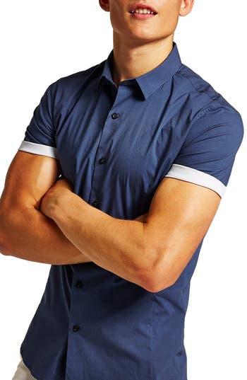 Topman Classic Turn-Up Shirt
