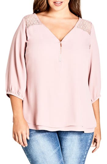 CITY CHIC CHARMED TOP