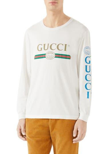 Gucci Dragon Appliqué Long-Sleeve T-Shirt