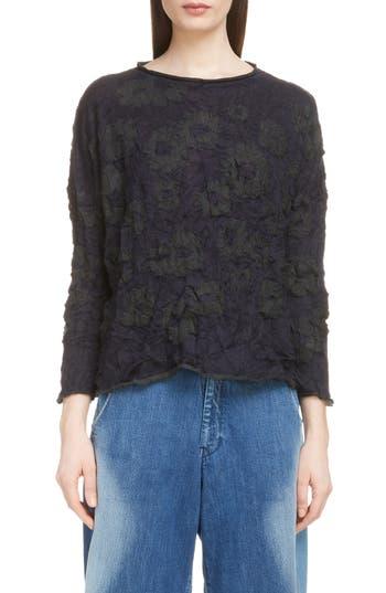 Y's by Yohji Yamamoto Wrinkle Flower Sweater