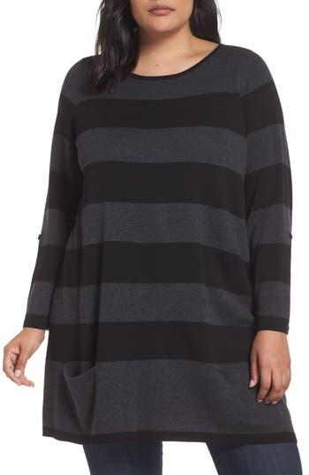 Caslon® Roll Sleeve Tunic Sweater