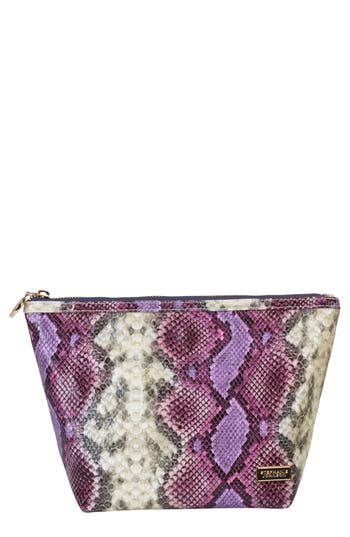 Stephanie Johnson Java Plum Laura Trapezoid Cosmetics Case