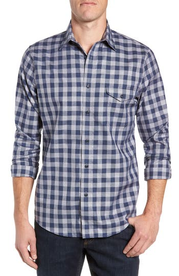 Nordstrom Men's Shop Regular Fit Non-Iron Check Sport Shirt