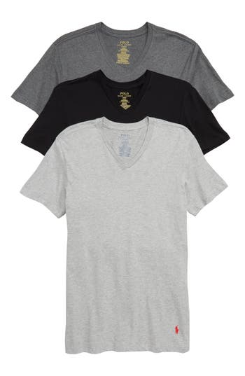 Polo Ralph Lauren 3-Pack Slim Fit V-Neck T-Shirts