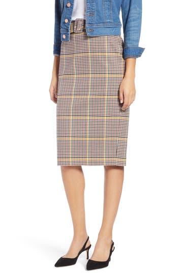 1901 Plaid Pencil Skirt
